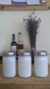 Yogurt in jars