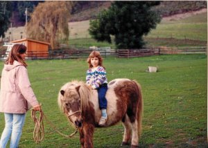 Little Sarah on a pony