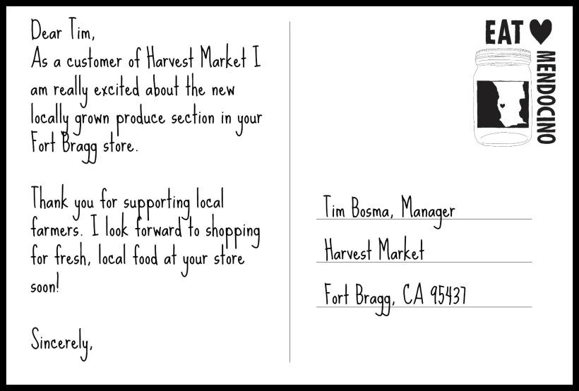 Harvest Market Postcard