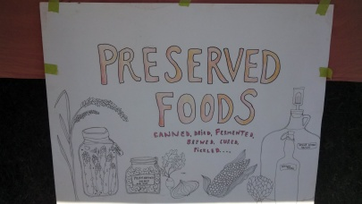 The Preserved Foods display section.