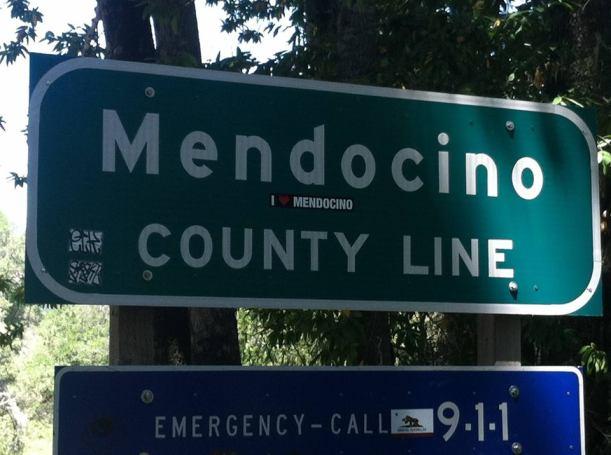 Mendocino County Line