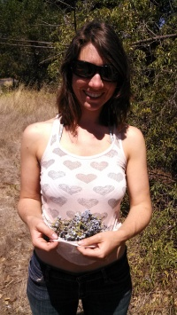 Sarah with elderberries