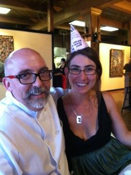 Chef Nicholas Petti and a very happy locavore.