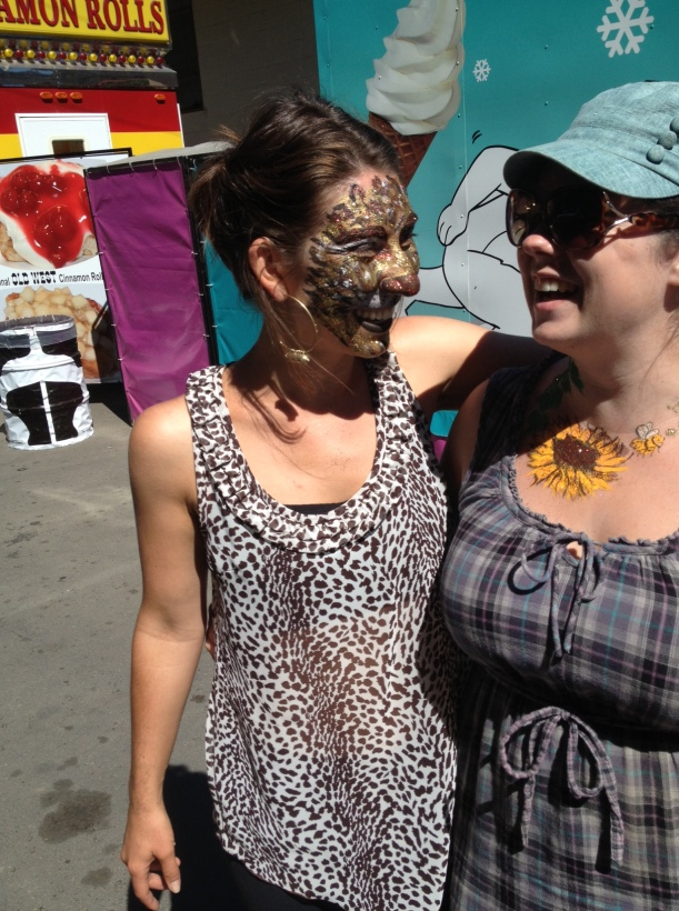 Painted faces at the Mendocino County Fair