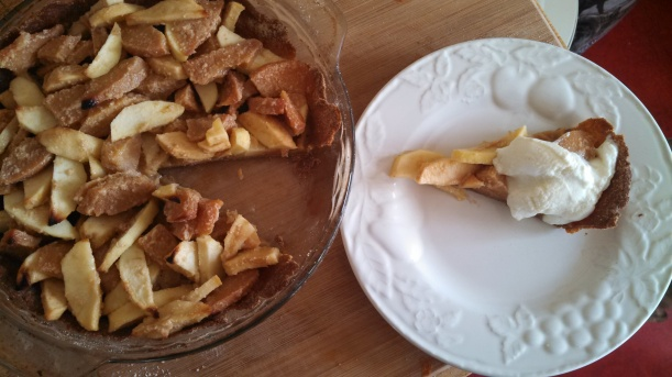 Quince & apple pie
